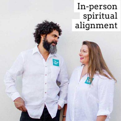 In person spiritual alignment