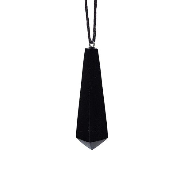Shungite trapezium pendant