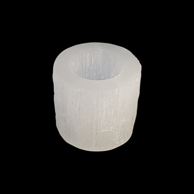 Selenite tea-light lamp