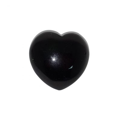 Green goldstone heart