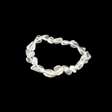 Clear quartz tumbler bracelet