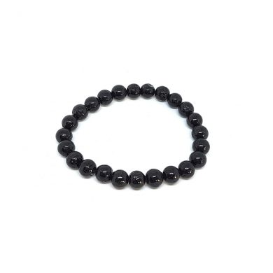 Black tourmaline small bead bracelet