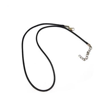 Black plain necklace
