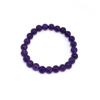 Amethyst medium bead bracelet