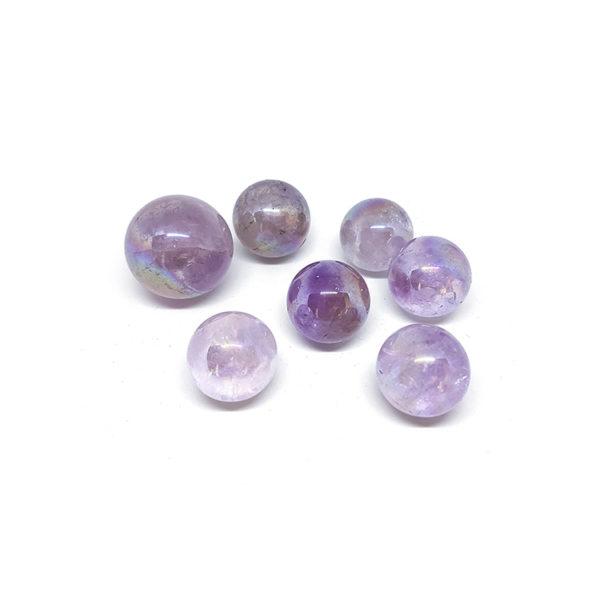 Amethyst aura spheres