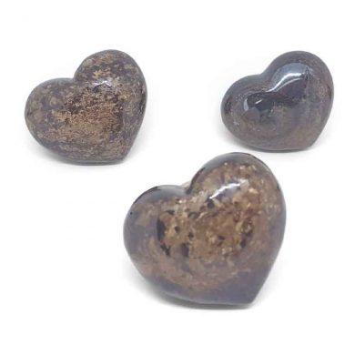 Bronzite heart